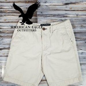 American Eagle Mens 30W Light Khaki Classic Fit